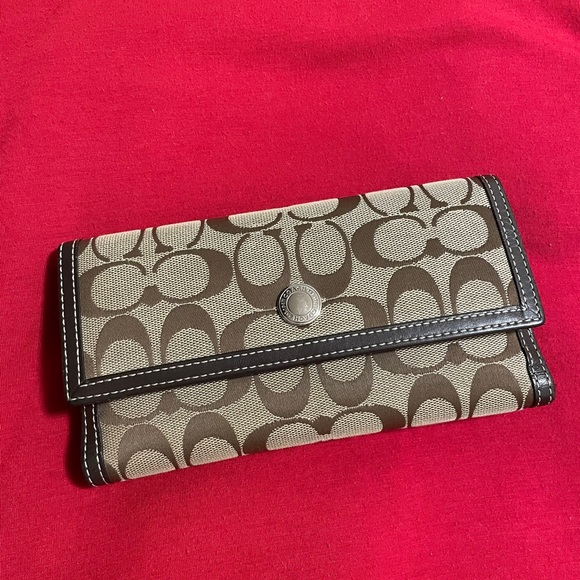 Coach pattern wallet